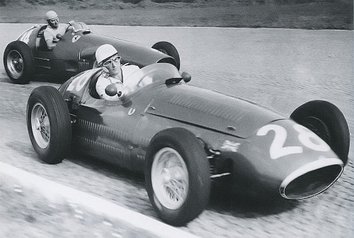 Stirling Moss & Alberto Ascari at the 1954 Italian Grand Prix