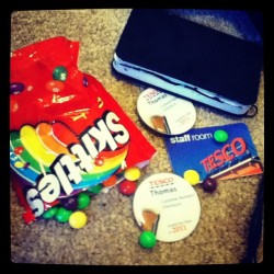 Time to stop eating skittles and get ready for work ! (Taken with instagram)