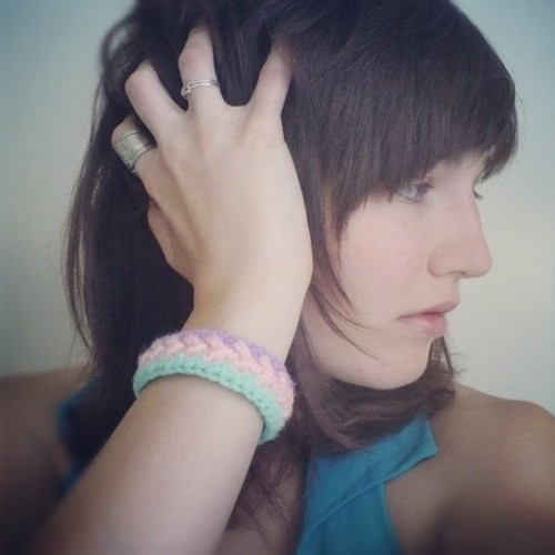 Mint Tri-Colour Soft Bracelet. Available on CUExperiments etsy shop. (Taken with instagram)
