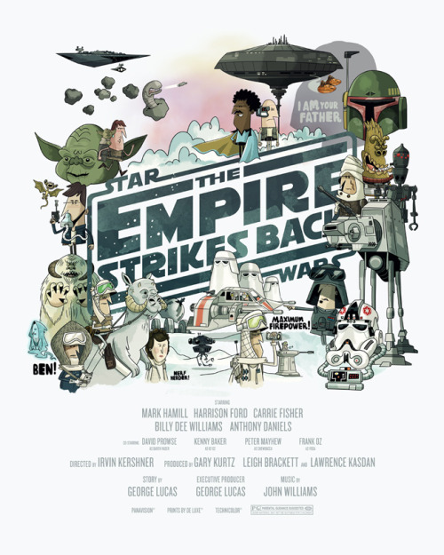 Empire strikes back poster !