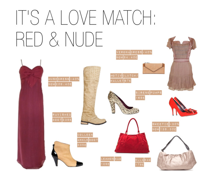 MUST HAVE: A Chic Pairing of Red and Nude Red and nude is at once sophisticated and bold. How do you match red & nude?