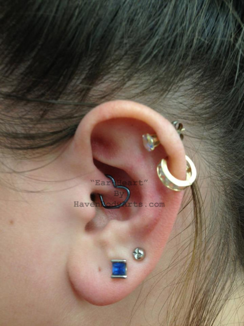 Ear-Heart Jewelry in a daith Haven Body Arts 108 Main Street FL2 Northampton MA 01060 Phone: (1-413-584-6637)