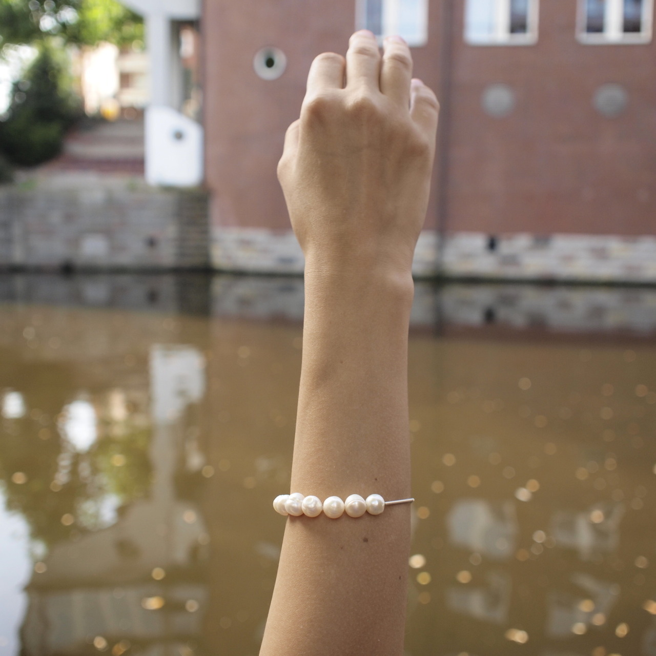 pearl bracelet from SWEET LUSTRE collection  buy it on etsy