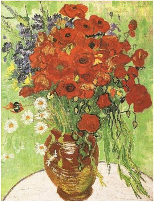 Vincent van Gogh - Still Life: Red Poppies and Daisies