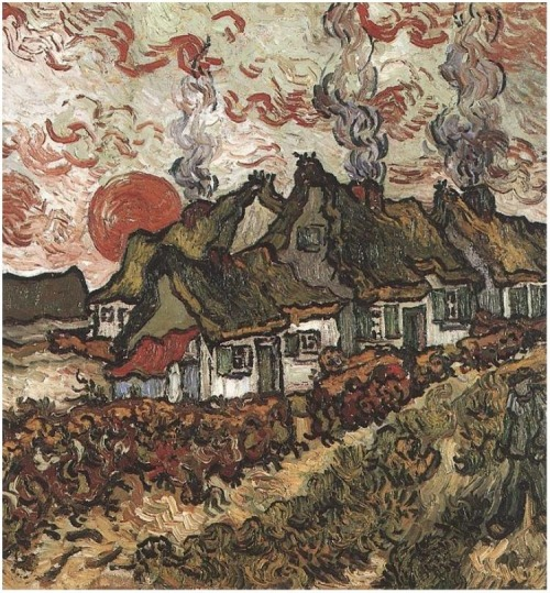 Vincent van Gogh - Coattages- Reminiscence of the North - 1890
