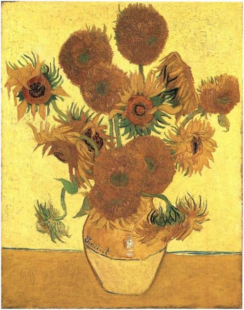 Vincent van Gogh - Still Life: Vase with Fifteen Sunflowers - 1888