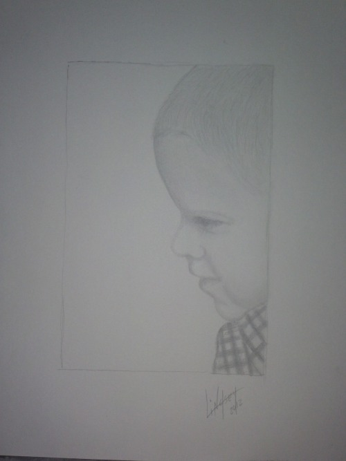 My drawing of Bryson done in pencil >