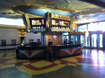 This box office feels like a dream and reminds me of the carousel in the Santa Monica pier that I grew up goin' to. I spent countless hours on the white marble horses of that carousel, begging my father to let me ride as soon as we got to the pier and pleading with him to let me stay when it was time to go. At theaters like this I would watch movies with my father, my brother, my cousins, my next door neighbor's Masha and marina, and Masha's brother Anthony. I'd run trough Universal's City Walk and sneak my hands into the buckets of wax at the magic hands booth and count the crusty pieces of wax as they slowly crumbled off while my dad cut the lines to buy us all tickets. Iffy business, but Sunday lines were always huge. After the first movie ended we would occasionally stay inside the giant air conditioned mega plex and carefully sneak into the next movie. These were the best days. The days that I could see my father just as he saw me, as a kid.