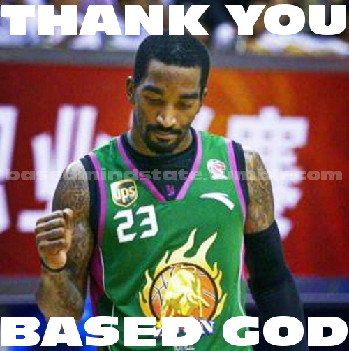 JR Smith thanking Based God