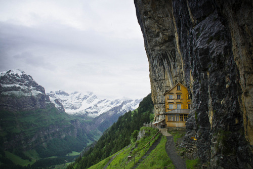 tostoptheworld:  hidden in the alps by BradleyJace on Flickr.