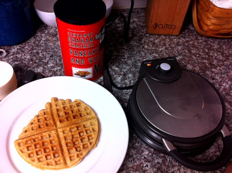 Guess who received a surprise waffle iron yesterday from Williams-Sonoma????
