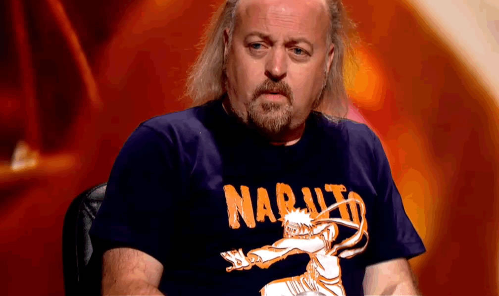 w1tch:  Bill Bailey in his Naruto shirt  Mr Bailey is amazing.