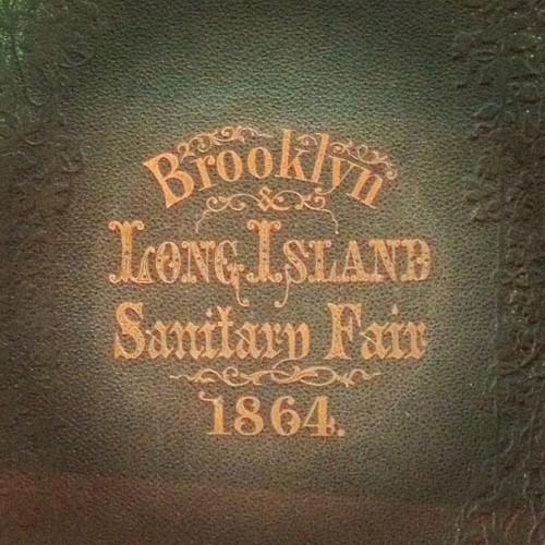 {via cacomixl}  Sanitary Fair, 1864. #lettering (Taken with Instagram at Brooklyn Academy of Music)