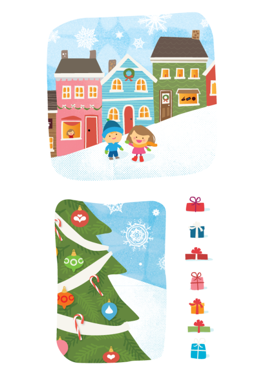 Here's a sneak peak at a winter wonderland scene I'm creating for holiday packaging (super top secret right now, but I'll post the printed piece once I'm allowed!) I've definitely been channeling my childhood memories of Rankin Bass movies for this one. Fun stuff!