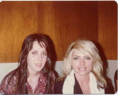1978, backstage in Austin, that's my lovely wife, Lois Richwine, and the blonde with the Skunks T-shirt draped on her shoulders is Debbie Harry. I met Debbie and Chris Stein outside the rock club Mother Earth, while handing out flyers for the Skunks' gig at Raul's, and I happened to be carrying a pet skunk at the time. They were intrigued, quite friendly, and they came to the gig. Clem Burke, Frank Infante and the keyboard player (his name is slipping my mind, but a very fun guy) jammed with us. That same year, other celebrity jammers included Elvis Costello, Pete Thomas, Eric Johnson, Van Wilkes, and I forget who else. The Clash was the following year.