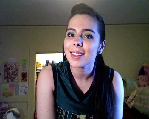 Dance Team make up! GO GREEN AND GOLD!