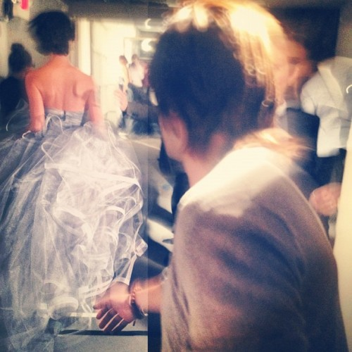 Behind the scenes action caught with Instagram at the New York Fashion Week by oscarprgirl