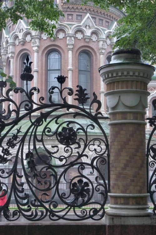 Cast iron fence of Alexander Garden (St. Petersburg, Russia)