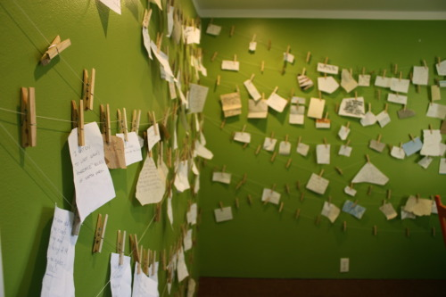 """Confessional"", interactive installation, Open Space Gallery, 2010."