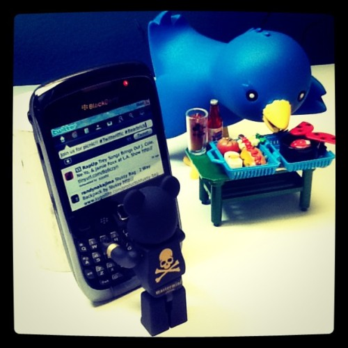"Bape Be@rbrick x Twitterrific bird ""Ollie"" (Taken with instagram)"