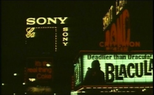 Blacula marquee at the Criterion Theater in New York