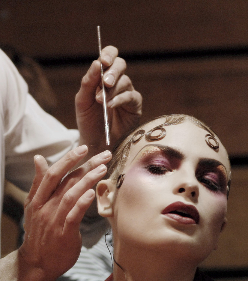 Backstage John Galliano Spring 2008