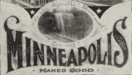 Vintage Minneapolis Postcard typography