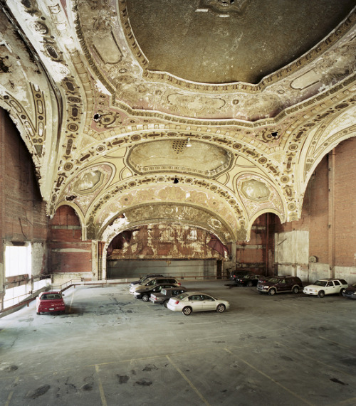 mialennon:  The 1929 Michigan Theater in Detroit now serves as a parking lot.Photo by Sean Hemmerle.  this makes me so sad.