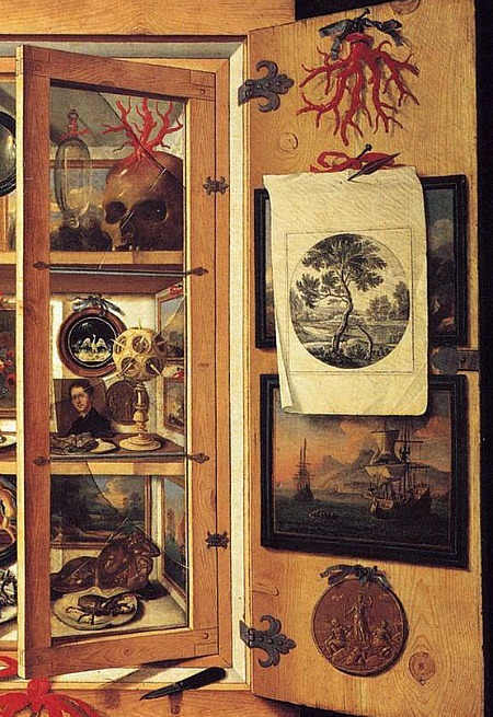 Domenico Remps Cabinet of Curiosities, detail 1690-99