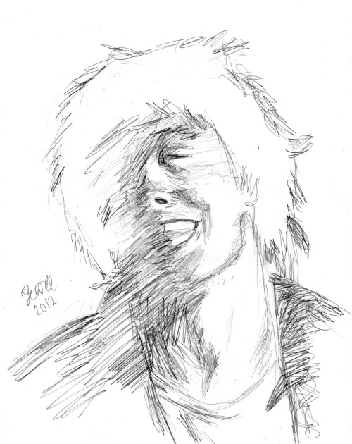 I saw a lovely picture of Glen Matlock here on Tumblr and I had to scetch it! I'll improve this and I might actually colour it, I'm feeling artistic.