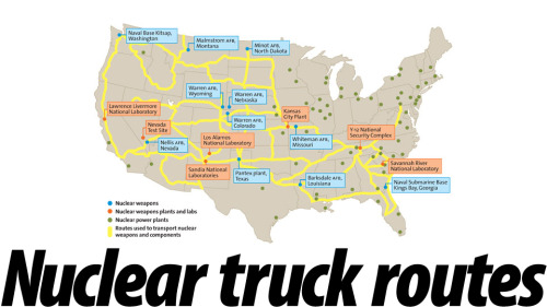 These Are the Routes for All US Military Nuclear Weapons Trucks : Crazy!!