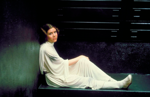 filmcrack:  Carrie Fisher on the set of Star Wars: Episode IV - A New Hope