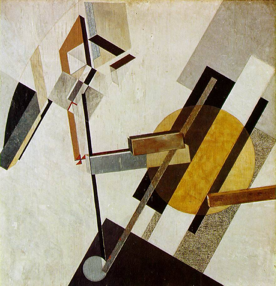 El Lissitzky, Proun 19DGesso, oil, paper, and cardboard on plywood 1922