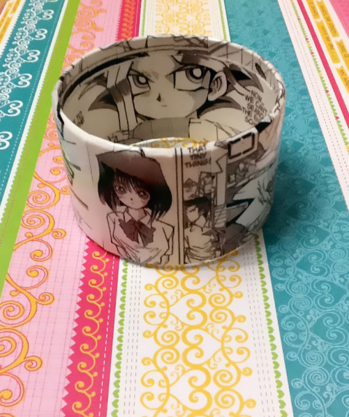 Yugioh! Bracelet now available!!! http://www.etsy.com/listing/92711935/upcycled-yugioh-manga-bracelet-original