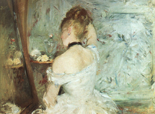 A Woman at Her Toilette (1875) by Berthe Morisot.  I just love the feel of this painting.