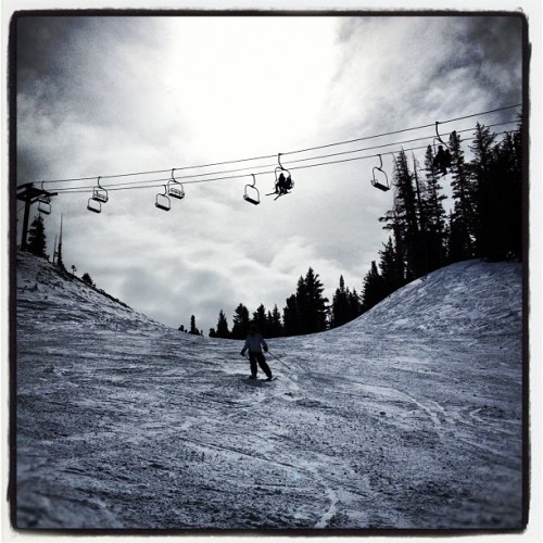 The snow is killer today at #mammothmountain   (Taken with Instagram at Chair 21: Mammoth Mountain)