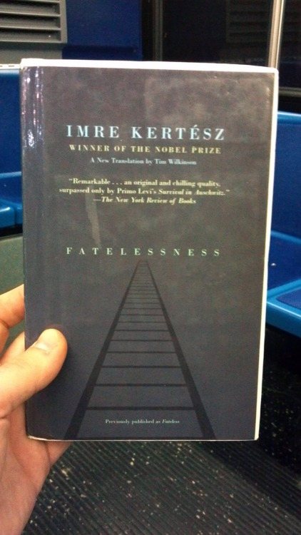 "Fatelessness by Imre Kertesz (1975, a new English translation from 2004) A concentration camp novel about a Hungarian Jewish teen written by a man who spent a year in Auschwitz, Buchenwald and Zeitz as a Hungarian Jewish teen. This novel is a tour-de-force of defamiliarization, as Kertesz obscures the reader's expectations of a Holocaust novel (I don't really feel like I need to tell you what you expect from a Holocaust novel) by emphasizing, instead, the matter-of-fact anti-sentimentality of his narrator's inner-voice. Pick up this book: a captivating, haunting look at a disaffected teenager's mind under extreme duress. A great—and maybe this sounds weird, but I feel it—novel about a teenager. An excerpt:     Another thing that somewhat set me thinking that day was the fact that, as I was informed, this place, this institution, had already been in existence for years, standing here and operating exactly the same way, day after day, but nevertheless, as it were—and I admit this notion may, perhaps, contain a certain element of exaggeration—ready and waiting for me. In any event, our own block chief—more than a few people referred to this with distinct, one could say awestruck, admiration—had already been living here for four years. It occurred to me that that had been a year of particular significance for me, being when I enrolled at the grammar school. [The headmaster] had made reference, I recollected, to an ancient Roman philosopher, quoting the tag ""non scolae sed vitae discimus""—""we learn for life, not school."" But then in light of that, really, I ought to have been learning all along exclusively about Auschwitz. Everything would have been explained, openly, honestly, reasonably. The thing was, though, that over the four years at school I had heard not a single word about it. Of course, that would have been embarrassing, I conceded, nor indeed did it belong to education, I realized."