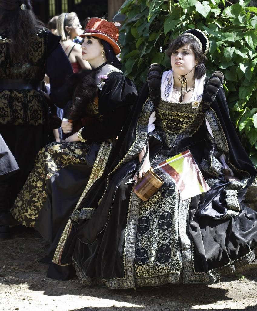 black and gold renaissance dress