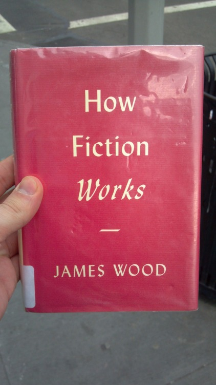 "How Fiction Works by James Wood (2008)  If you want to read a short history of the realistic novel, and a lucid explanation of the free direct style, I recommend this book. Also recommended if you want to be reminded that reading more Flaubert, Stendhal, Diderot, and Chekhov sounds like fun. Warning: Wood quotes his favorite authors early and often. I also want to highlight his chapter called ""Brief History of Consciousness,"" which, despite the sleazy title, is an exciting trip from the Bible's King David to Shakespeare's Macbeth to Dostoevsky's Raskolnikov woven together by examining the ""audience"" to whom each speaks. (David/God; Macbeth/audience; Raskolnikov/reader.) It leads to such insights as:  Raskolnikov is unnaturally theatrical, or better still, histrionic: he seeks attention, and is desperately unstable and inauthentic, hiding at one moment, confessing at another, proud in one scene, self-abasing in the next. In the novel, we can see the self better than any literary form has yet allowed; but it is not going too far to say that the self is driven mad by being so invisibly scrutinized.  That's great, but the big problem is that Wood doesn't care at all about plot, seems to get no joy out of it whatsoever, and tsk tsks over-plotters like Thomas Pynchon for eschewing something he calls ""final seriousness."" Wood on Pynchon:  There are pleasures to be had from these amiable, peopled canvases, and there are passages of great beauty, but, as in farce, the cost to final seriousness is considerable: everyone is ultimately protected from real menace because no one really exists. The massive turbines of the incessant story-making produce so much noise that no one can be heard.  I think this condemnation is a lack of imagination on Wood's part. Wood sometimes seems only capable of finding ""pleasure"" in character development and ""beauty"" in well written passages, and I think he misses why Pynchon would construct such plot-heavy turbulence. I always interpreted Pynchon's style as an attempt to get readers to see the menace in the connections, in the matrices, in the whole, and that his final seriousness came from looking at aerial views of his worlds, not over the shoulders of characters. There is a lot of noise, and Pynchon to wrestle good books and truthful insights out of it. It's in the struggle between the individual and the massive whole; and, if we're going there, I might as well throw in that it's the struggle between George Trow's ""grid of intimacy"" and the ""grid of two hundred million."" The middle distance, the buffering communities—for example, Raskolnikov's St. Petersburg, or even his mom and sister and friends—doesn't exist for Pynchon's characters. Instead, you get something like, in Gravity's Rainbow, Pig Bodine popping out of nowhere every few hundred pages to distribute drugs and sing a song. Yeah yeah yeah, it sounds like farce, but the accumulation and repetition of the episodes reveal scarier possibilities. I think part of the pull of Pynchon's fiction is that he has been asking, since the late 1950s, if all we have is our life inside our head and the super-connected life of the whole earth. And that neither, at the end of the day, might make any sense. Why can't that be final seriousness? So that's my gripe. But Wood is good. I still can't believe he's younger than David Foster Wallace would have been."