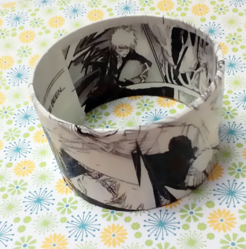 Bleach Manga Bracelet featuring Ichigo now available :D http://www.etsy.com/listing/92706312/upcycled-bleach-manga-bracelet-featuring