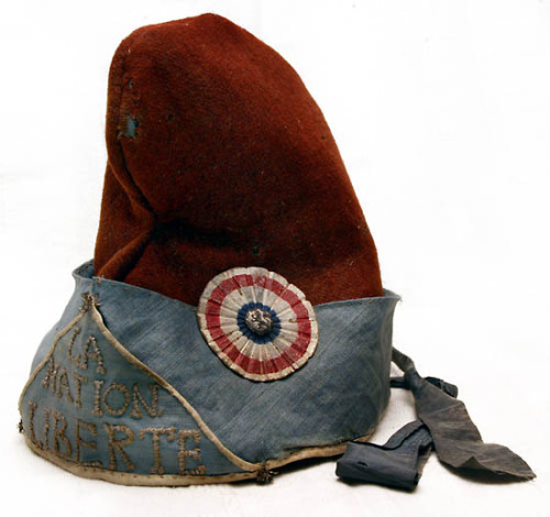 Phrygian cap, late-18th century, used by French Revolutionaries as a symbol of liberty By kind permission of Jon Goldstein