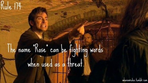 "Rule 174: The name ""Rose"" can be fighting words when used as a thread. [Image Credit]"