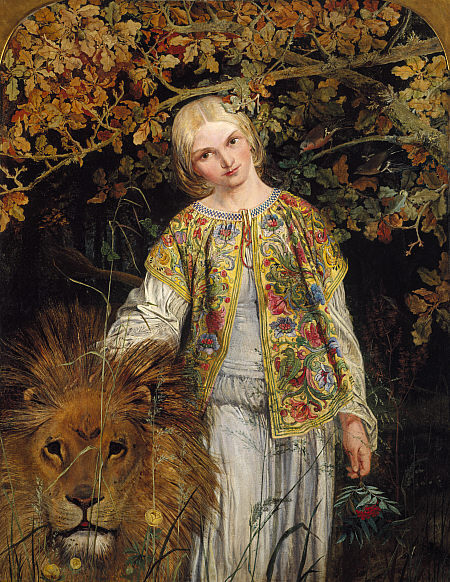William Bell Scott, Una and the Lion (1860)