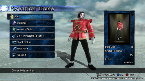 "Quick SCV Creation: Michael Jackson Moveset: Dampierre. (Voldo's good too, but Dampierre has the Moonwalk)    By the way, I'll keep updating this post with any improvements I make. Any questions, requests or tips you can use the ""Ask a question"" page."