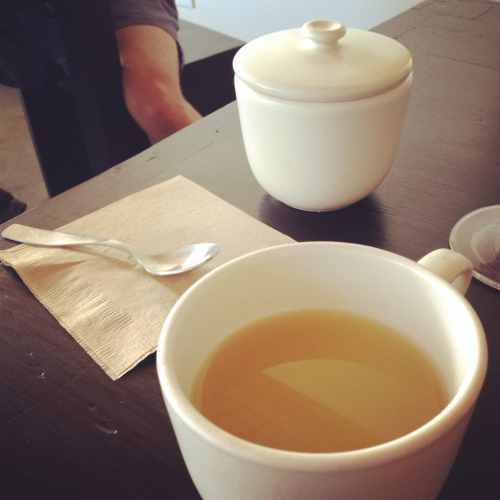 Ginger tea at Axe - one of my favorite things.