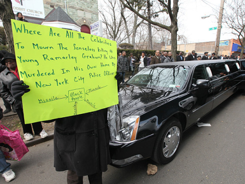 Photo from the funeral of Ramarley Graham today.