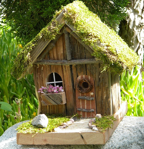 notjanebond:  Fairy House #1 (by bowenbirdhouses)