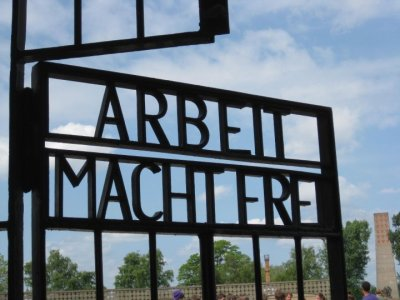 The main gate at Sachsenhausen concentration camp in Oranienburg, Germany. © J. Atamanuk, 19.02.2012
