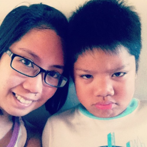 My nephew is in a very bad mood. Hahaha. Love you buchikoy! #boy #kid #frown #badmood (Taken with instagram)