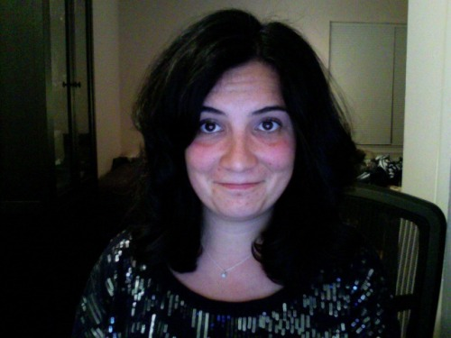 I chopped off my hair. It is a little poofy.